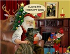 SANTA AT HOME<br>Greyhound Therapy Dog (br)