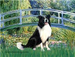 LILY POND BRIDGE<br>& Border Collie