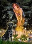 MIDSUMMER'S EVE<br>& Black Labrador Retriever