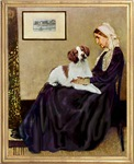 WHISTLER'S MOTHER<br>& Brittany Spaniel