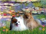 WATER LILIES<br>& 2 Pomeranians