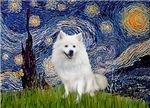 STARRY NIGHT<br>& American Eskimo Dog