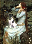 OPHELIA (SEATED)<br>& Smooth Fox Terrier