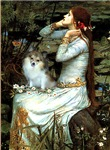 OPHELIA (SEATED)<br>& Parti Pomeranian