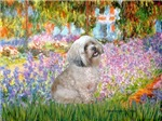 GARDEN AT GIVERNEY<br>& Lhasa Apso