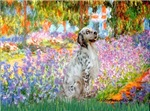 GARDEN AT GIVERNEY<br> & English Setter