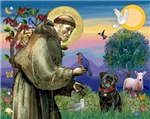 Saint Francis with<br>a Black Pug