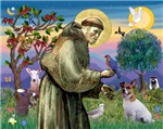 Saint Francis with<br>Jack Russell Terrier (#1)