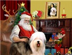 SANTA AT HOME<br>& Old English Sheepdog