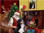 SANTA AT HOME<br>& Bernese Mountain Dog