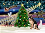 CHRISTMAS MAGIC<br>& German Shepherd