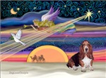 CHRISTMAS STAR<br>& Basset Hound