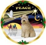 CHRISTMAS DOVE<br>& Wheaten Terrier