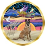 CHRISTMAS STAR<br>& Belgian Malinois