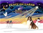 CHRISTMAS SUNRISE<br>& Shetland Sheepdog