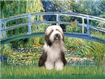 LILY POND BRIDGE<br>& Bearded Collie #1