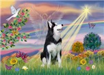 CLOUD ANGEL<br>& Siberian Husky(BW)#1