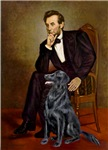 ABRAHAM LINCOLN<br>&Flat Coated Retriever