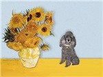 SUNFLOWERS<br>& Silver Poodle (Toy/Min)