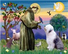 ST. FRANCIS<br>& Old English Sheepdog