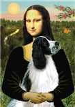 MONA LISA <br>& English Springer Spaniel (BW)