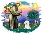 St. Francis #2 &<br> Bichon Frise (#1)