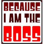 Because I am the Boss