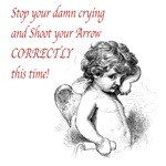 Crying Cupid T-shirts, Totes and Anti Vday Gifts