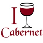 I Love Cabernet Wine T-shirts and Gifts