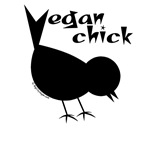 Vegan Chick Tees, Totes, Bags, Mugs, Buttons