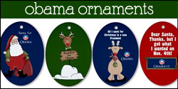 Barack Obama Christmas Ornaments