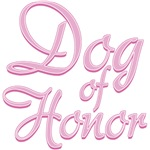 Amore Wedding Dog of Honor Pink T-Shirts