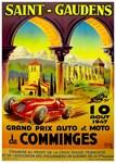 Saint-Gaudens Vintage Grand Prix Auto Racing Print