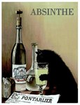 AAbsinthe Cat Advertising Print
