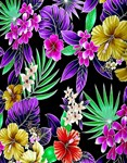 Colorful Flower and Plant Print