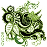 OYOOS Green Flower design