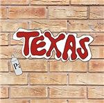 Texas On Brick Wall
