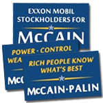 Anti-McCain Palin Window Stickers