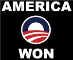 America Won  with Obama 