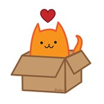 Cat + Box = Heart
