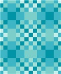 Turquoise Checkerboard