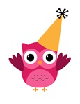 Owl New Year Party Hat Pink