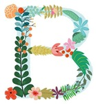 Floral Monogram B