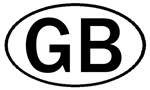 GREAT BRITAIN OVAL STICKERS & MORE!