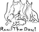 Greyhound Roo Black & White