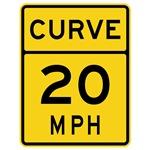 Curve 20 MPH Sign