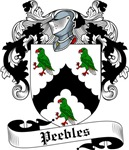 Peebles Family Crest, Coat of Arms