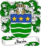 Marin Family Crest, Coat of Arms