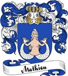 Mathieu Family Crest, Coat of Arms
