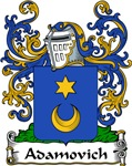 Adamovich Family Crest, Coat of Arms
